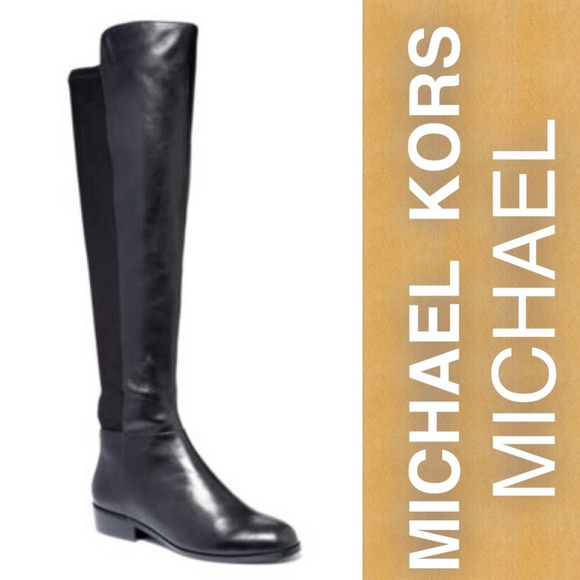 20% off MICHAEL Michael Kors Boots - Michael Kors black leather ...