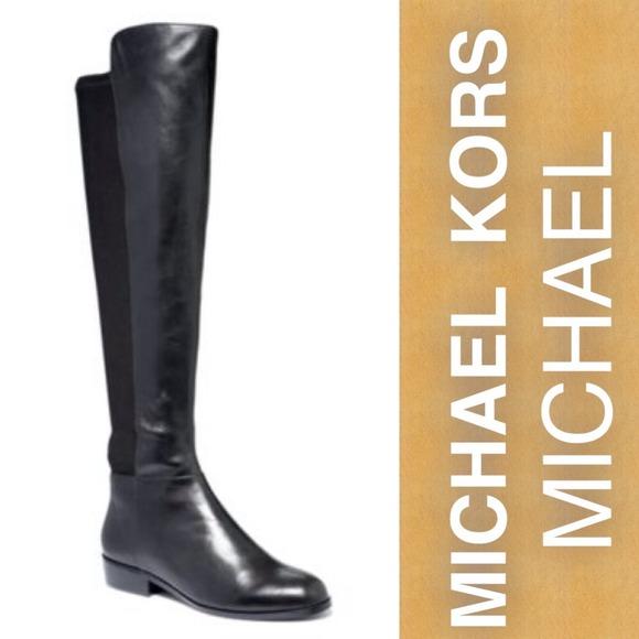 20% off MICHAEL Michael Kors Boots - Michael Kors black leather ...