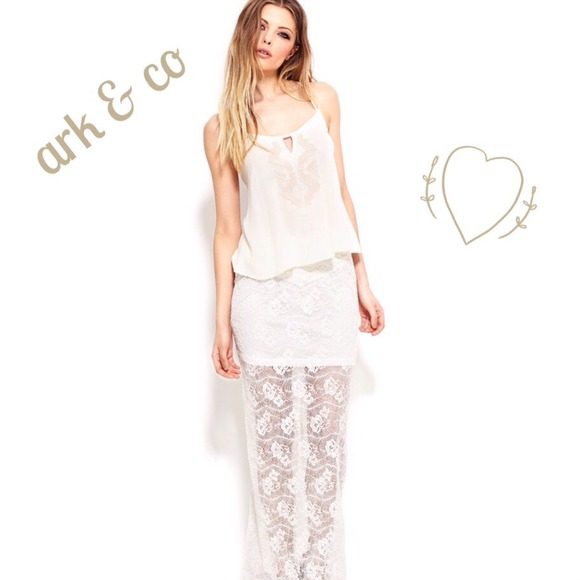 5e61f2b1bdbfb ☀️Summer Sale☀ Ark   co ivory lace floral maxi