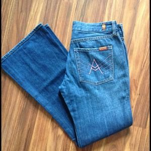 7 For All Mankind Pink A Pocket