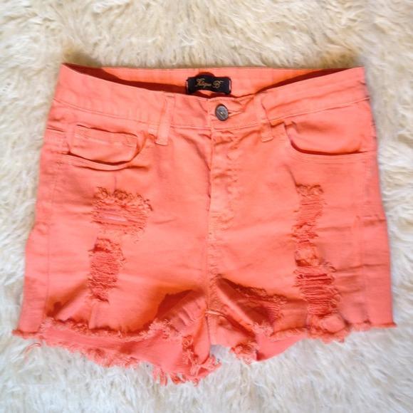 40% off Klique B Pants - 🔥Bright Orange High Waisted Shorts ...