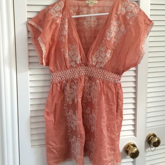 Salmon Pink Dress-shirt From