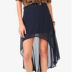 Forever 21 XXI navy blue high low skirt sz S