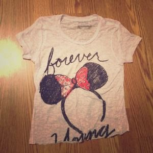"""Minnie Mouse """"Forever Young"""" Tee"""