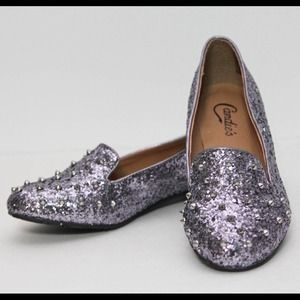 Candie's Glitter Spike Stud Flats **Reduced**