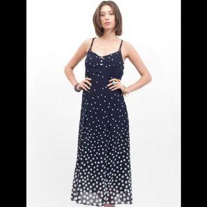 Vintage Gradient Polka Dot Maxi Dress **Reduced**