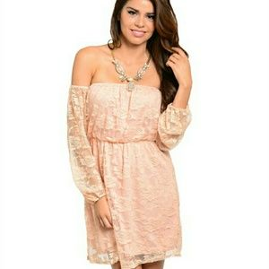 ☆AVAILABLE☆ ☆HP☆NWT Peach Lace Dress