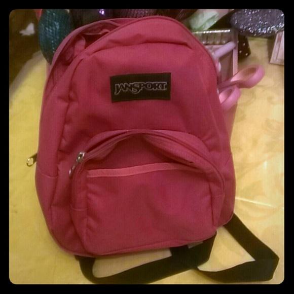 NWOT Jansport dark pink mini backpack 7c6d5384ee03b