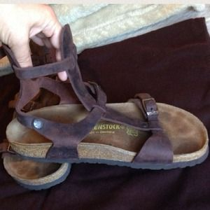 3246cd97bb6 Birkenstock Shoes - Birkenstock Gladiator Chania Sandal Dark Brown