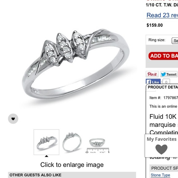 28% off Zales Jewelry Zales White Gold Promise Ring 💍 from Janet s clo