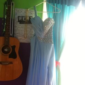 Dresses & Skirts - light blue prom dress