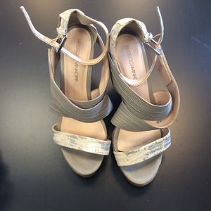 Rebecca Minkoff Gray and White Wedges