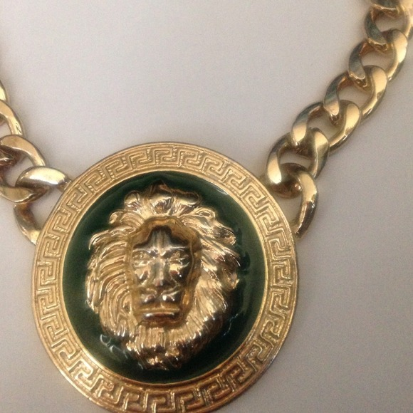 Versace Inspired Necklace Versace Inspired Gold Necklace