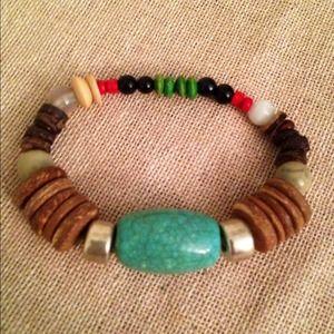 Jewelry - Ethic stretch bracelet- Multi stones