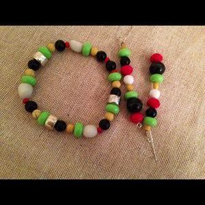 """Jewelry - Ethic stretch bracelet set 7.5"""""""
