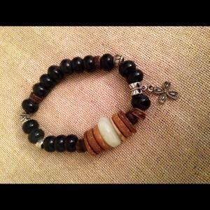 """Jewelry - Noun/ Cocowood stretch bracelet 7.5"""""""