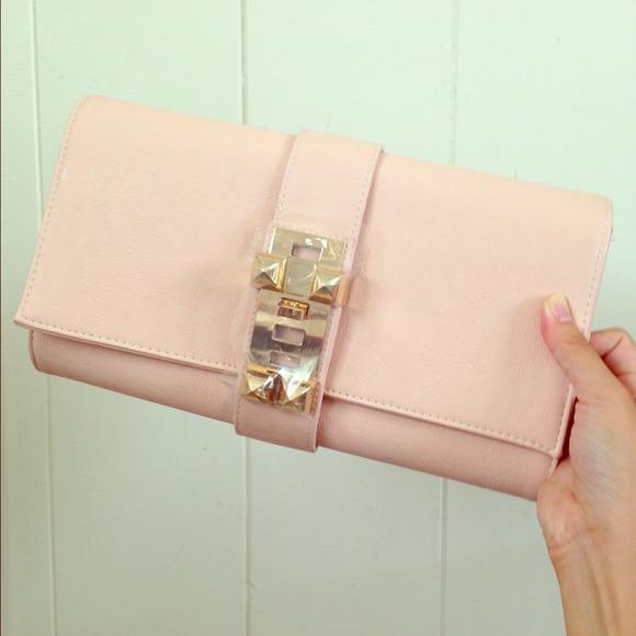 62% off Handbags - Blush pink clutch/bag *NEW* from Brandy's ...