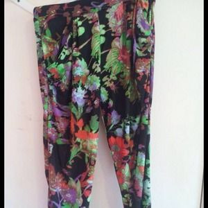 Flower parachute pants