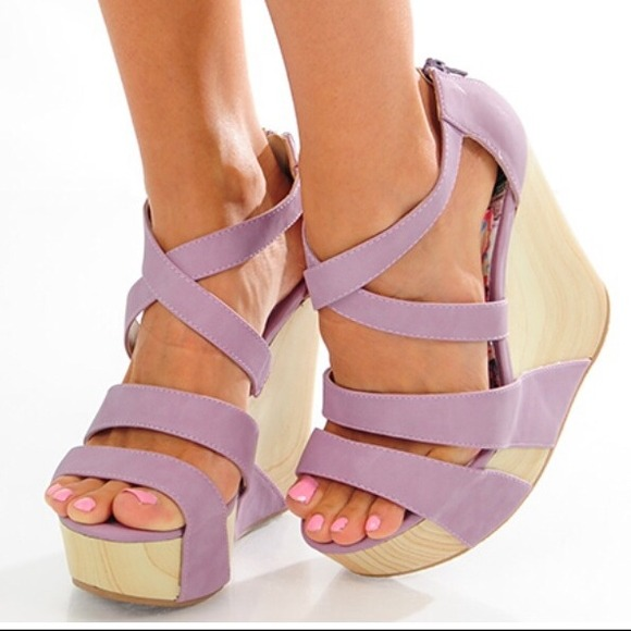 Shoes Purple Wedges Poshmark