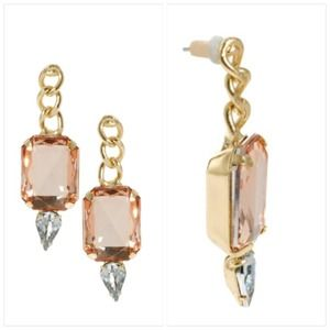 Asos peach stone earrings