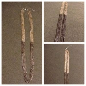 Jewelry - 💕Long Two-Toned Silver & Gray Necklace