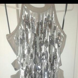 Bebe embellished dress cut out