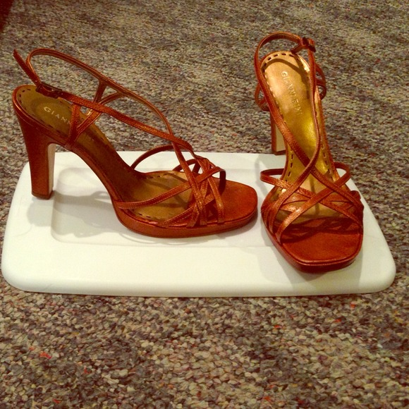 1fc995d61db Gianni Bini Shoes - Gianni Bini burnt orange strappy sandals heels