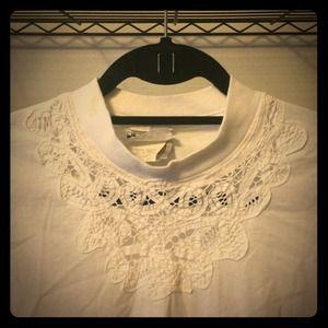 Tops - Lace White Tshirt