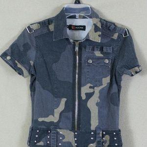Illig Juniors Army Camo Dress, Size Medium