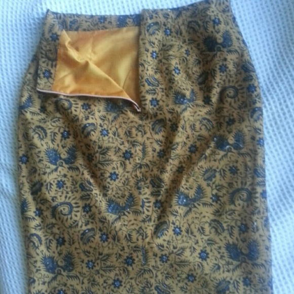 88% off Dresses & Skirts - Lined Batik pencil skirt from Bali from ...