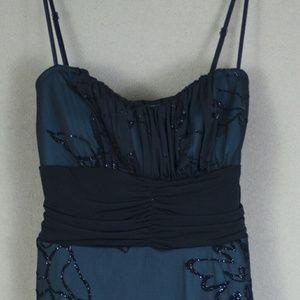 Speechless Juniors Black & Teal Dress, Size Large