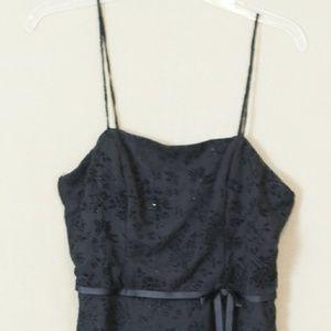 CDC Black Glitter Juniors Dress, Size Medium