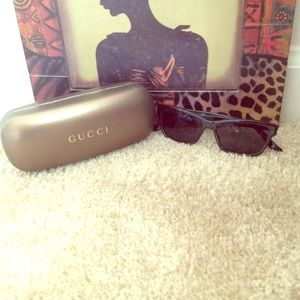 Gucci Sunglasses only worn once with case!