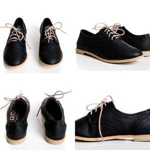 Shoes - Black Oxfords