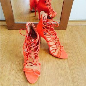154f44fd203c SCHUTZ Shoes - Schutz Fiorenza Lace Up Sandal (Salmon)