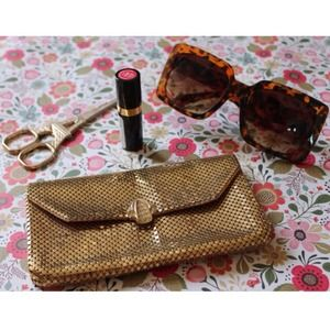 Whiting & Davis Gold Mesh Mini Clutch
