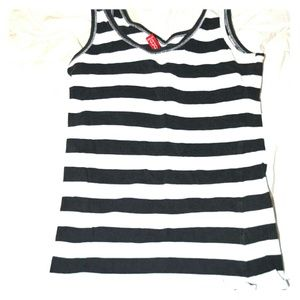 H&M Olive Green- striped tank