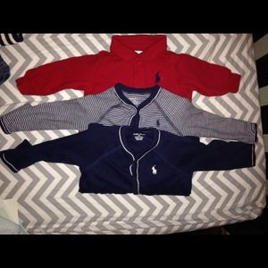 Polo by Ralph Lauren Other - 3 POLO Baby Boy One Pieces