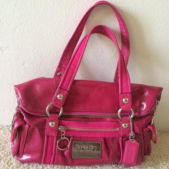 Coach bags patent pink poppy purse poshmark coach patent pink poppy purse mightylinksfo
