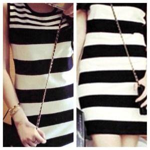 🎉HP! B&W Striped Dress