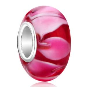 Glass bead final sterling silver murano will fit pandora