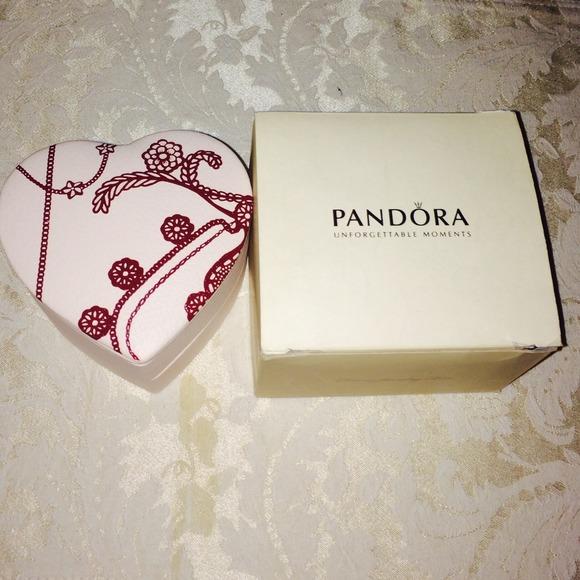 Pandora Jewelry Reduced Heart Shaped Box Poshmark