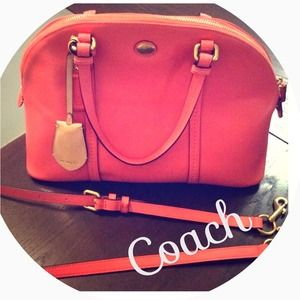 ✨SALE✨Coral coach Dome Satchel!! 100% Authentic