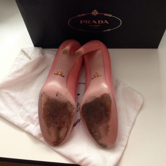authentic prada purse - 75% off Prada Shoes - ??Sale?? ??HP??Prada Vernice Rosa Pale Pink ...