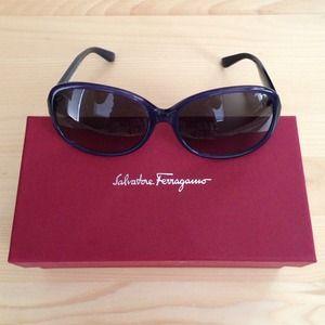 Navy Blue Ferragamo Sunglasses ❤️HostPick❤️