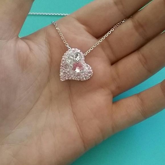 64 Off Swarovski Jewelry Swarovski Heart Shaped Double