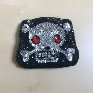 Handbags - Skull pouch bag