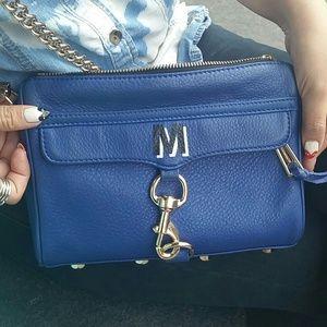 Rebecca Minkoff mini mac - BLUE M initial