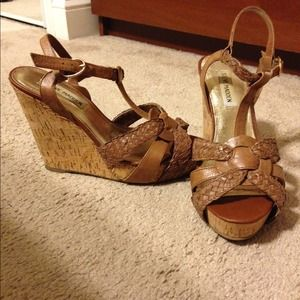 Steve Madden Wedge Shoes - Cognac leather