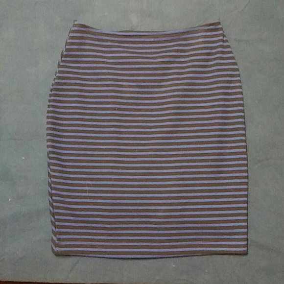blue and black striped skirt m from s closet on poshmark